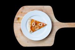 海鲜薄饼切片 免版税库存照片