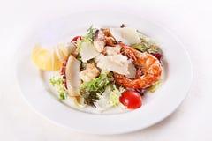 海鲜虾片式 免版税库存照片