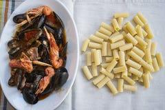 海鲜调味料面团 免版税库存照片