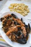 海鲜调味料面团 库存图片