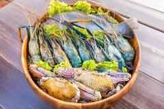 海鲜集合 免版税库存图片