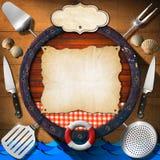 海鲜-菜单模板 免版税图库摄影