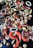 海鲜BBQ 库存照片