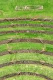海鳗废墟在库斯科,秘鲁 免版税库存照片