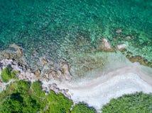 海鸟瞰图,顶视图,惊人的自然背景 颜色  库存图片