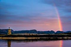 海鸥观看的彩虹 免版税库存照片