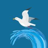 海鸥象 向量例证