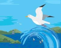 海鸥象 免版税图库摄影