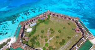 海龟国家公园,堡垒杰斐逊 佛罗里达 美国 免版税图库摄影