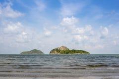 海,山姆Roi Yod海滩 免版税图库摄影
