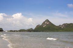 海,山姆Roi Yod海滩 免版税库存图片