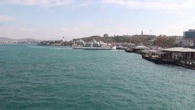 海,旅行伊斯坦布尔城市,土耳其12月2016年, 股票录像