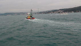 海,旅行,伊斯坦布尔市,土耳其12月2016年, 股票录像