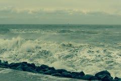 黑海,有一点风雨如磐 库存照片