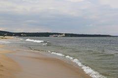 海,沙子,波浪,年2014年 免版税图库摄影