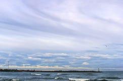 海,波浪,风 库存照片