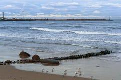 海,波浪,风 免版税图库摄影