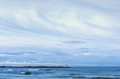 海,波浪,风 免版税库存图片
