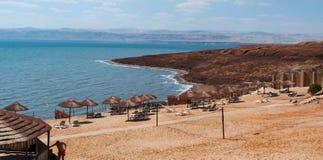死海,盐海,约旦,中东 免版税库存图片