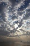 海,船,天空 库存照片
