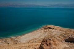 死海,以色列的风景 免版税库存图片
