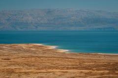 死海,以色列的风景 免版税库存照片