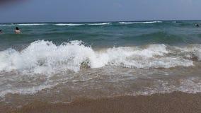 海滩、沙子和海在阿赫托波尔 库存照片