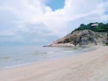 海滩一点 免版税库存照片