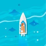 海洋水下的生活 库存例证