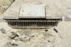 海滩下水道 免版税库存照片