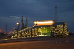 海洋中心Vellamo在晚上 芬兰 免版税图库摄影