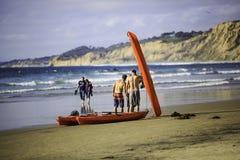 海滩乘独木舟 免版税库存照片