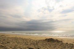 海滩云彩 库存图片