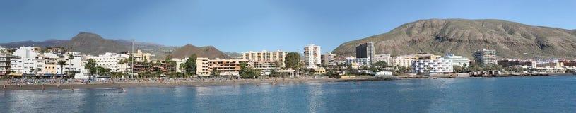 海滨人行道Los Cristianos特内里费岛 免版税图库摄影