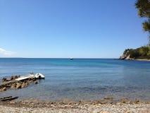 海滩伊维萨岛西班牙2013年 免版税图库摄影