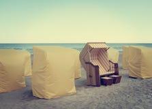 海滩休息室 免版税库存照片