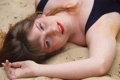 海滩休息 免版税库存图片