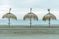 海滩伞  免版税库存照片
