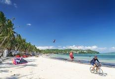 海滩体育在博拉凯热带海岛菲律宾 免版税库存照片