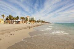 海滩佛罗里达好莱坞 图库摄影