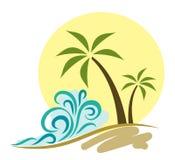 海滩例证 免版税图库摄影