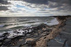 海滩侵蚀 免版税图库摄影
