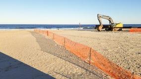 海滩侵蚀 图库摄影