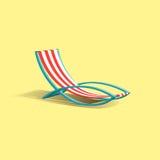 海滩轻便折叠躺椅 图库摄影