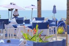 海滩俱乐部在中午 免版税库存照片