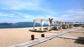 海滩俱乐部越南芽庄市 库存照片