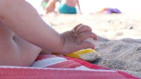 海滩儿童使用 影视素材