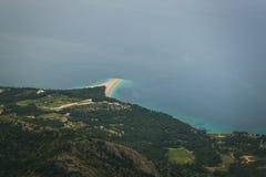 海滩克罗地亚汇率zlatni 库存照片