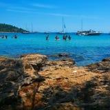 海滩克罗地亚 库存图片
