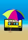 海滩党海报 库存图片